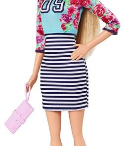 Barbie Fashionistas Doll Floral Top and Striped Skirt - Original 2