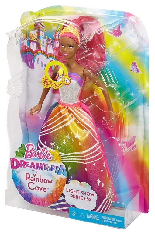 Barbie Rainbow Princess Cove Light Show Doll, Brunette 10