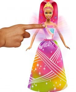 Barbie Rainbow Princess Cove Light Show Doll, Brunette 2