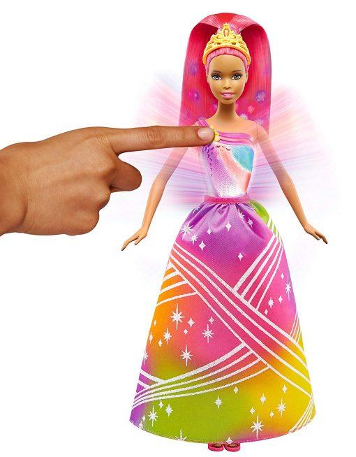 Barbie Rainbow Princess Cove Light Show Doll, Brunette 2