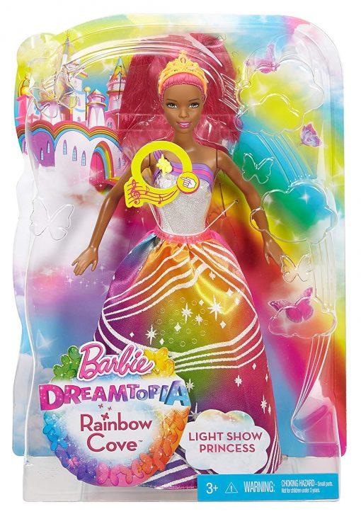 Barbie Rainbow Princess Cove Light Show Doll, Brunette 3