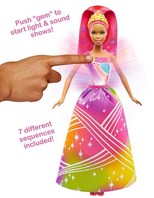 Barbie Rainbow Princess Cove Light Show Doll, Brunette 4