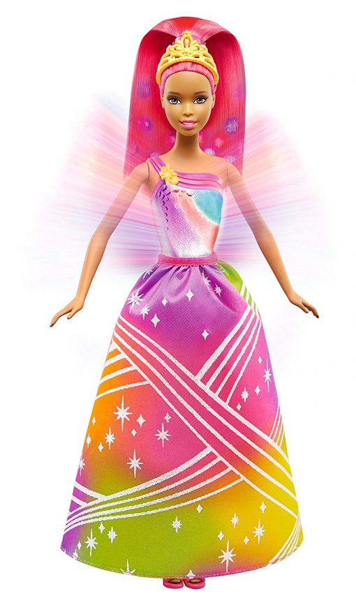 Barbie Rainbow Princess Cove Light Show Doll, Brunette 5