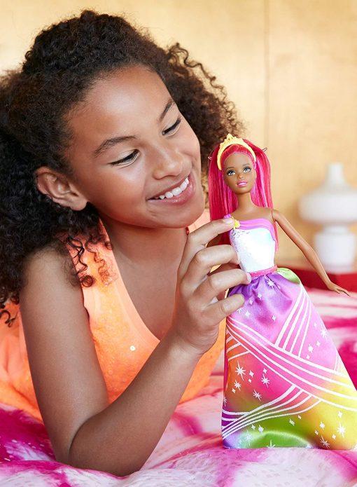 Barbie Rainbow Princess Cove Light Show Doll, Brunette 8