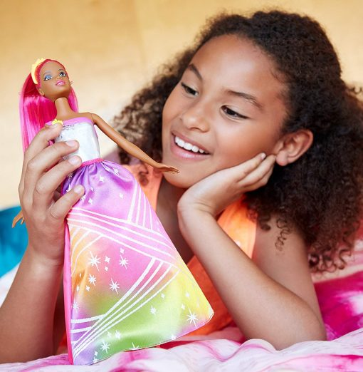 Barbie Rainbow Princess Cove Light Show Doll, Brunette 9