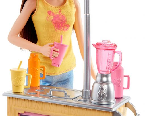 Barbie Careers Smoothie Chef Playset with Brunette Doll 5
