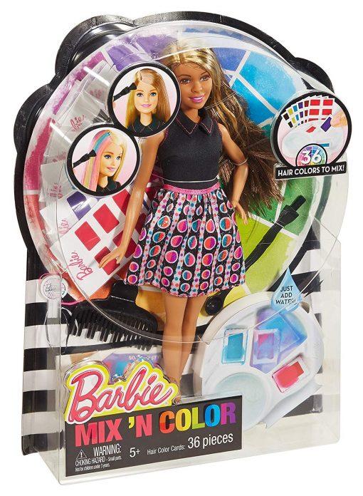 Barbie Mix 'N Color Barbie Doll Brunette 10