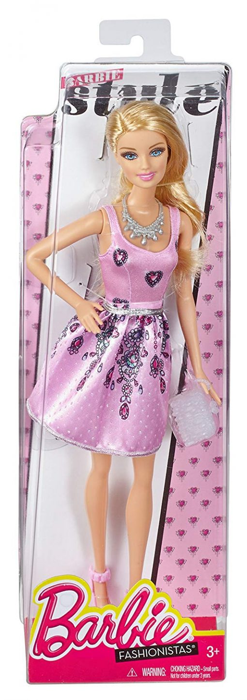 Fashionista Barbie Doll, Light Pink Dress 4