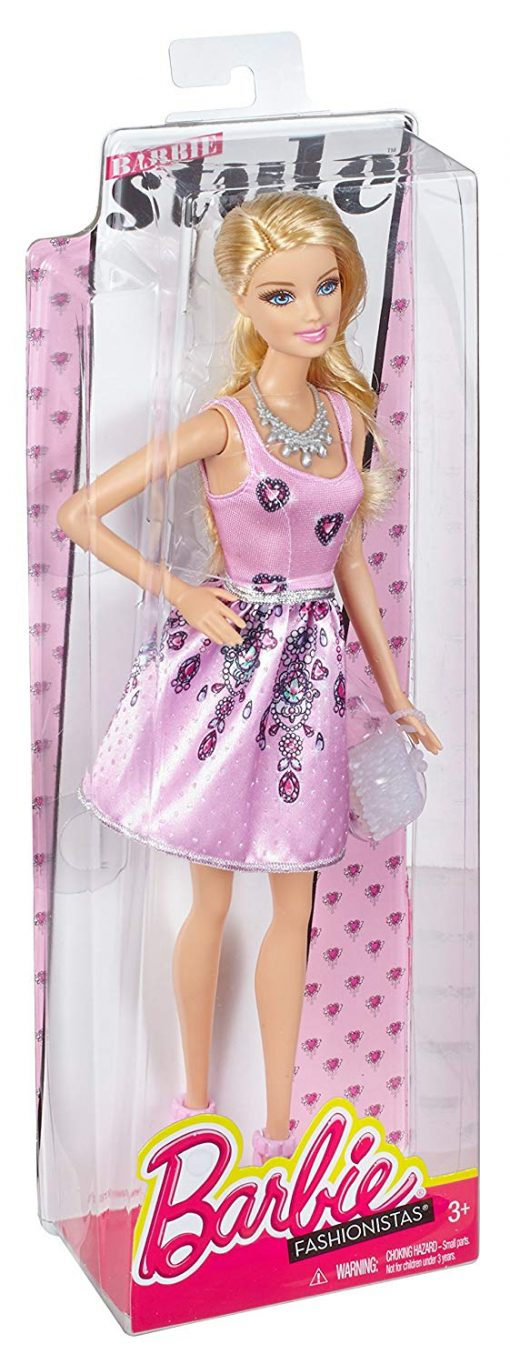 Fashionista Barbie Doll, Light Pink Dress 5