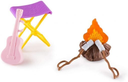 Barbie Camping Fun Accessory Pack Campfire 6 Pieces