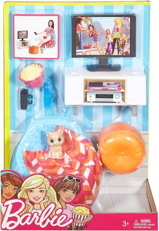 Barbie Movie Night & Accessories Playset 5