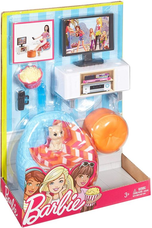 Barbie Movie Night & Accessories Playset 6