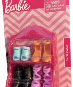 Barbie Shoe Pack - Pink Shelf with 4 Pairs of Barbie Shoes 2