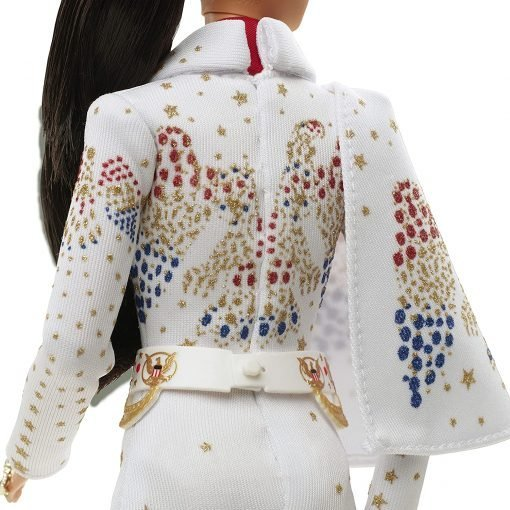 """Barbie Signature Elvis Presley Doll (12-in) with Pompadour Hairstyle, Wearing """"American Eagle"""" Jumpsuit, Gift for Collectors 13"""