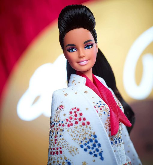 """Barbie Signature Elvis Presley Doll (12-in) with Pompadour Hairstyle, Wearing """"American Eagle"""" Jumpsuit, Gift for Collectors 2"""