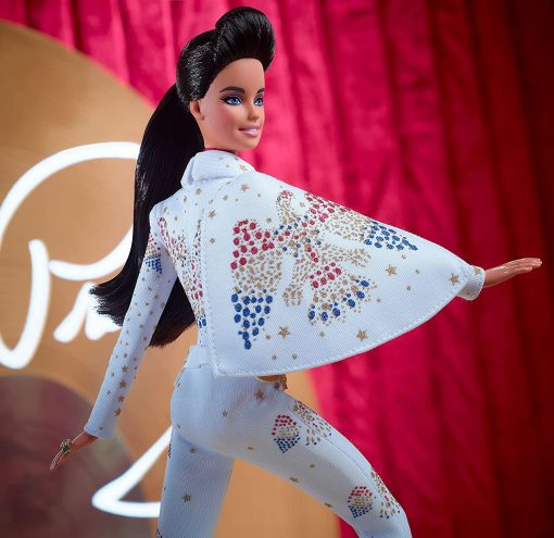 """Barbie Signature Elvis Presley Doll (12-in) with Pompadour Hairstyle, Wearing """"American Eagle"""" Jumpsuit, Gift for Collectors 3"""