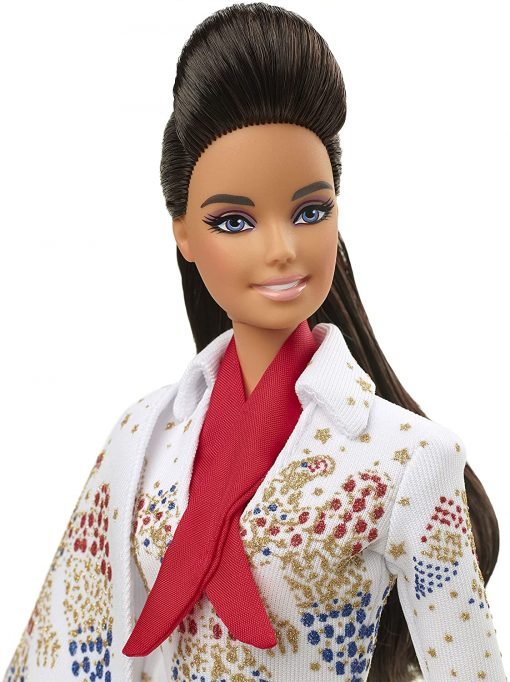 """Barbie Signature Elvis Presley Doll (12-in) with Pompadour Hairstyle, Wearing """"American Eagle"""" Jumpsuit, Gift for Collectors 8"""