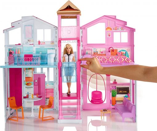 Barbie 3-Story House with Pop-Up Umbrella, Multicolor [Amazon Exclusive] 3