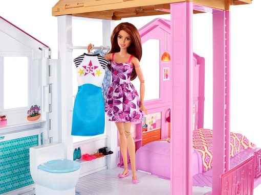 Barbie 3-Story House with Pop-Up Umbrella, Multicolor [Amazon Exclusive] 4