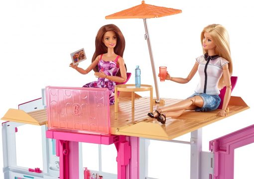 Barbie 3-Story House with Pop-Up Umbrella, Multicolor [Amazon Exclusive] 6