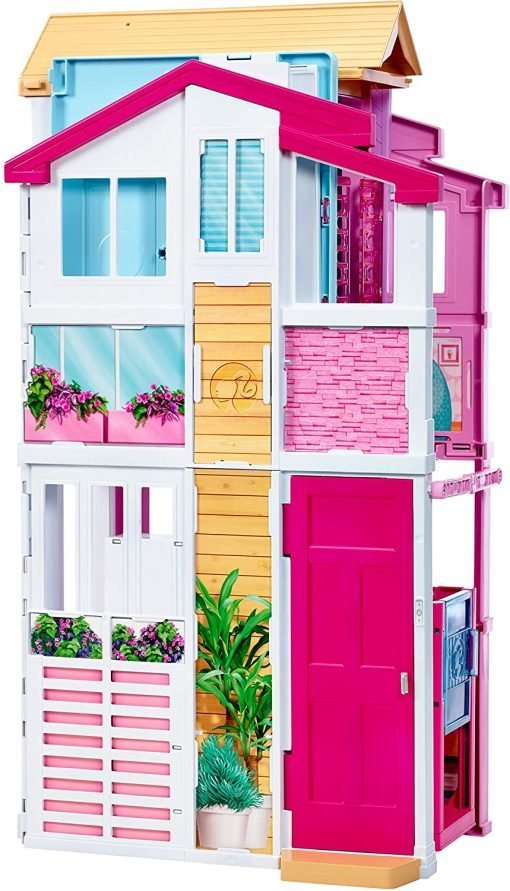 Barbie 3-Story House with Pop-Up Umbrella, Multicolor [Amazon Exclusive] 8