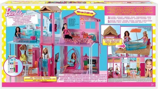 Barbie 3-Story House with Pop-Up Umbrella, Multicolor [Amazon Exclusive] 9